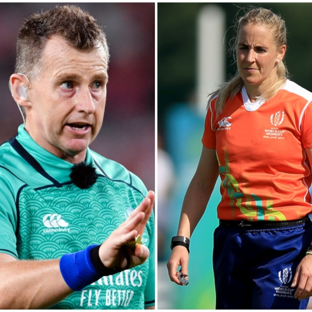 Nigel Owens and Joy Neville to make officiating history